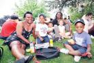 Stanley Road Primary School: Sun shines on park peace picnic